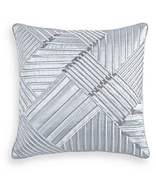 "Hotel Collection Dimensional Embroidered 20"" Square Decorative Pillow, Created for Macy's"