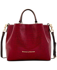 Lizard Embossed Leather Large Barlow Tote, Created for Macy's