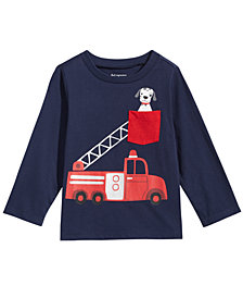 First Impressions Baby Boys Cotton Firetruck T-Shirt, Created for Macy's