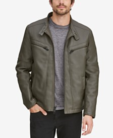 Marc New York Men's Corbett Faux-Leather Jacket With Removable Hood