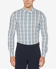 Perry Ellis Men's Yarn-Dyed Plaid Performance Shirt