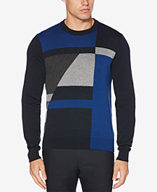 Perry Ellis Men's Colorblocked Geometric Sweater
