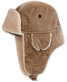 Men's Fleece-Lined Corduroy Trapper Hat
