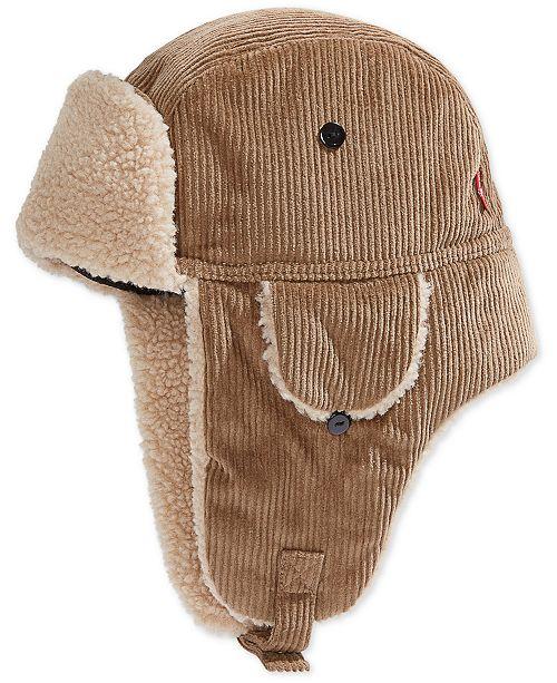 Levi's Men's Fleece-Lined Corduroy Trapper Hat