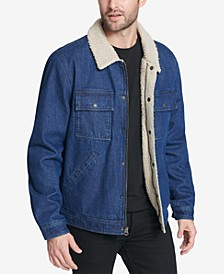 Men's Washed Denim Trucker Jacket
