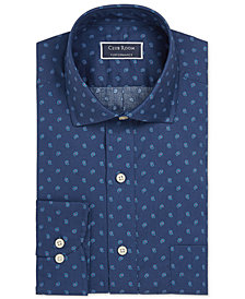 Club Room Men's Slim-Fit Stretch Pine Print Dress Shirt, Created for Macy's