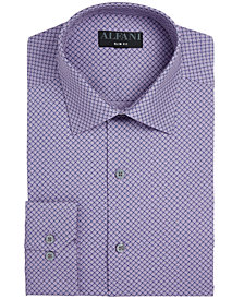 AlfaTech by Alfani Men's Fitted Performance Stretch Puzzle Print Dress Shirt, Created for Macy's