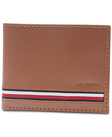 Tommy Hilfiger Men's Logo Leather Passcase Wallet