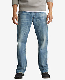Silver Jeans Co. Mens Gordie Straight-Fit Stretch Jeans