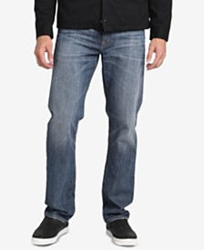 Silver Jeans Co. Mens Eddie Relaxed-Fit Tapered Stretch Jeans