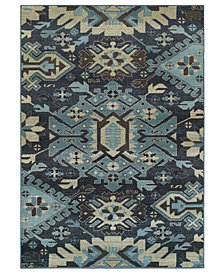 "Oriental Weavers Linden 4302A Navy/Blue 1'10"" x 3' Area Rug"