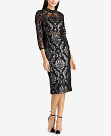 RACHEL Rachel Roy Foiled Jacquard Sheath Dress