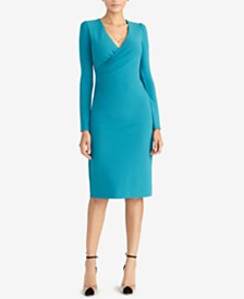 cf250027288e RACHEL Rachel Roy Surplice-Neck Long-Sleeve Sheath Dress