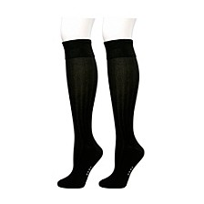 Rib Turn Cuff Knee High 2 pk