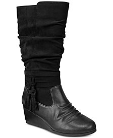 Rampage Little & Big Girls Bridget Tall Wedge Boots
