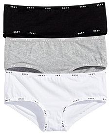 DKNY Little & Big Girls 3-Pk. Hipster Cotton Underwear