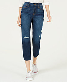 Rewash Juniors' Ripped Cropped Jeans