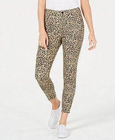 Rewash Juniors' Leopard-Print Skinny Jeans