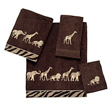 Animal Parade Embroidered Hand Towel