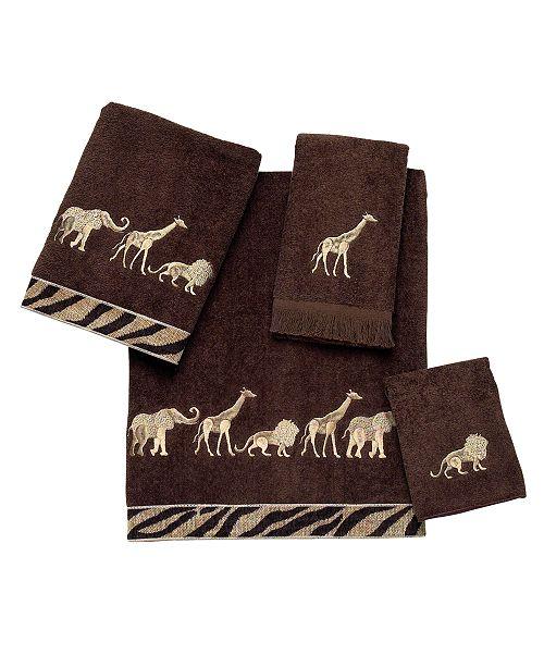 Avanti Animal Parade Embroidered Fingertip Towel