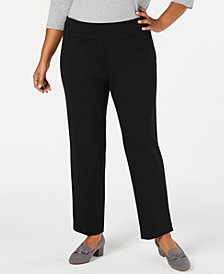 Charter Club Plus Size Pull-On Slim-Leg Pants, Created for Macy's