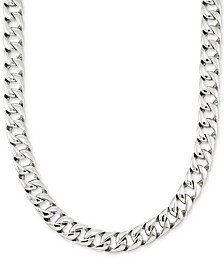 "Large Curb Link 24"" (15 mm thick) Chain Necklace in Stainless Steel"