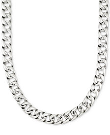 "LEGACY for MEN by Simone I. Smith Large Curb Link 24"" (15 mm thick) Chain Necklace in Stainless Steel"