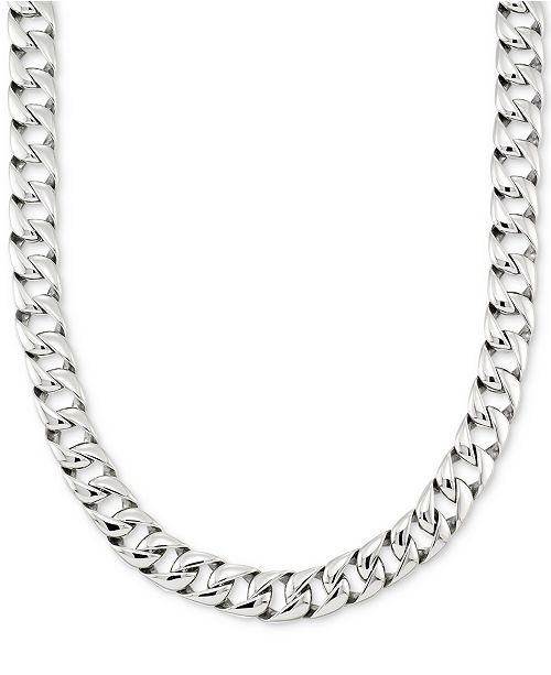 Legacy For Men By Simone I Smith Large Curb Link 24 15 Mm Thick Chain Necklace In Stainless Steel Reviews Necklaces Jewelry Watches Macy S