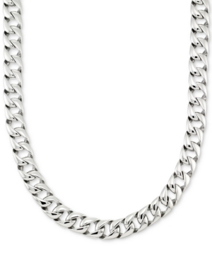 """Smith Large Curb Link 24"""" (15 mm thick) Chain Necklace in Stainless Steel"""