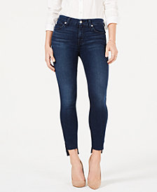 7 For All Mankind Step-Hem Skinny Ankle Jeans