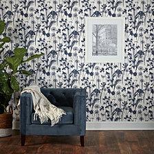 Tempaper Distressed Floral Self-Adhesive Wallpaper