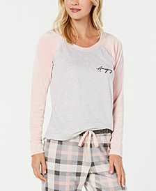 Jenni Velour-Sleeve Pajama Top, Created for Macy's
