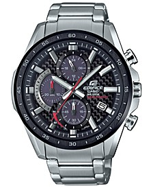 Men's Solar Chronograph Stainless Steel Bracelet Watch 47.6mm