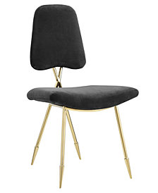 Modway Ponder Upholstered Velvet Dining Side Chair
