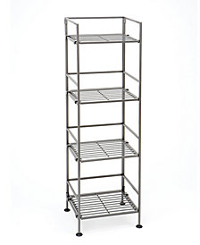 Seville Classics 4 Tier Iron Bar Square Tower Shelving