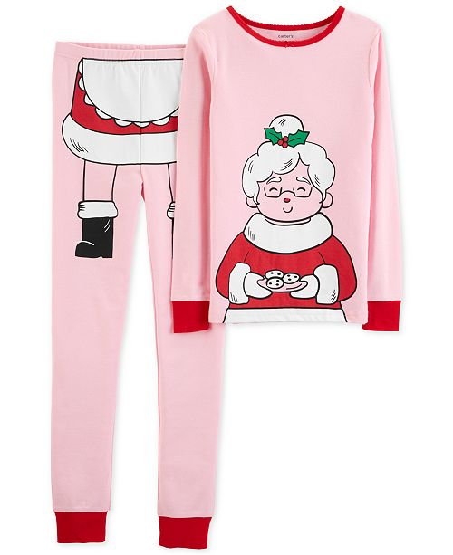 f3d76e9b3 Carter s Little   Big Girls 2-Pc. Snug-Fit Mrs. Claus Cotton Pajamas Set