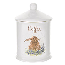 "Portmeirion  Wrendale Rabbit Coffee Canister ""Bright Eyes"""