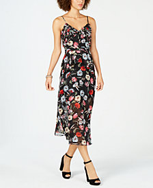 foxiedox Embellished Floral-Print Midi Dress