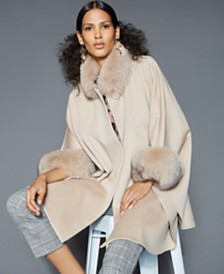 The Fur Vault Fox-Trim Cape
