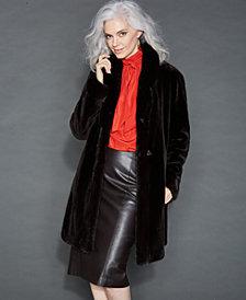 The Fur Vault Reversible Sheared Mink Coat