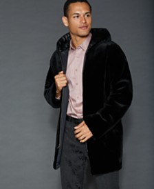 The Fur Vault Reversible Sheared Mink Fur Jacket