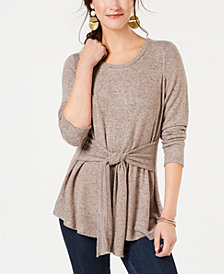 Style & Co Tie-Front Tunic, Created for Macy's
