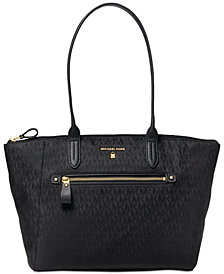 MICHAEL Michael Kors Nylon Kelsey Signature Top Zip Tote