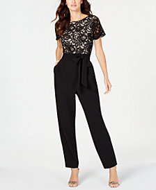 Jessica Howard Lace-Top Jumpsuit