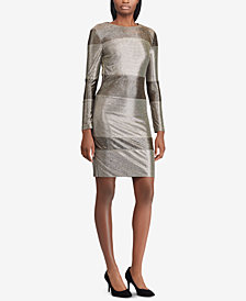 Lauren Ralph Lauren Metallic Striped Dress