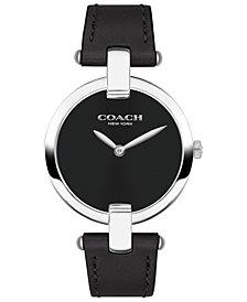 COACH Women's Chrystie Black Leather Strap Watch 32mm