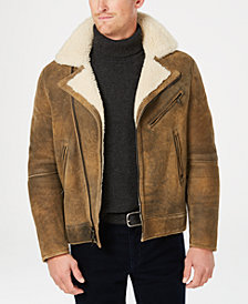 Michael Kors Men's Shearling Biker Jacket
