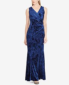 Lauren Ralph Lauren Velvet Open-Back Gown