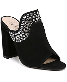 Lillie Women's Studded Block Heel Mules