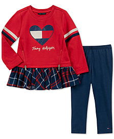 Tommy Hilfiger Baby Girls 2-Pc. Plaid Peplum Tunic & Leggings Set